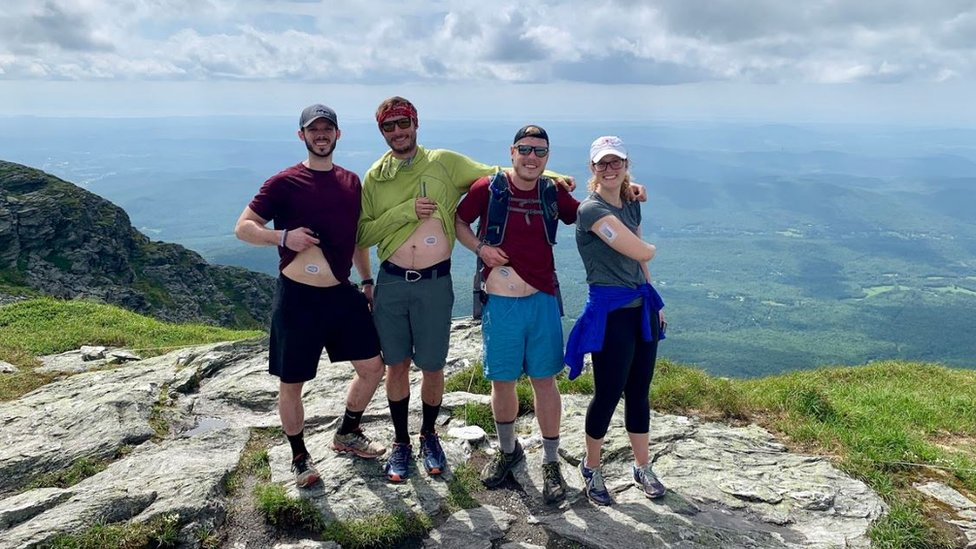 Michael and Patrick at Mount Mansfield, Vermont