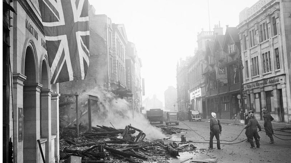 The aftermath of the Blitz