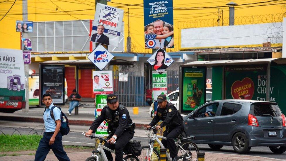 Propaganda electoral en las calles.