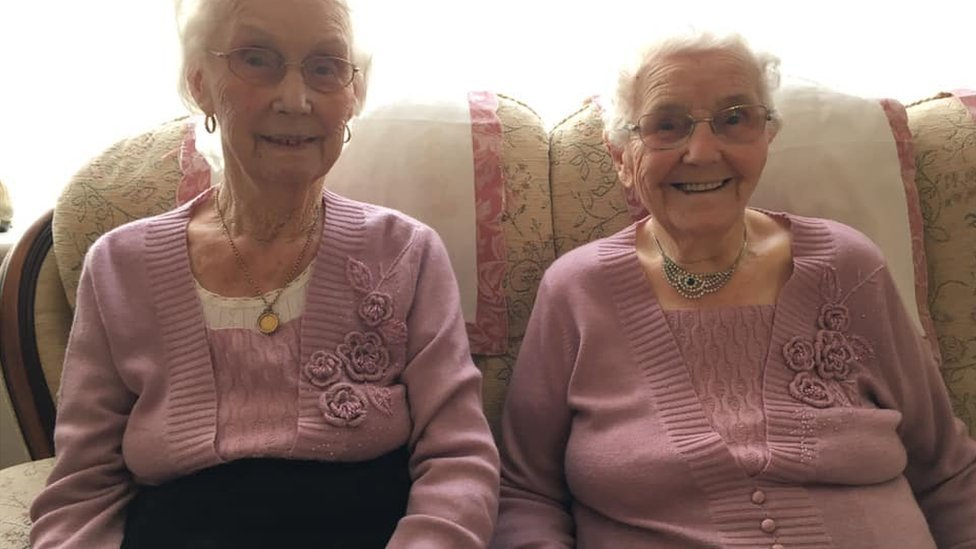 'UK's oldest twins' turn 102: Stourport-on-Severn pair mark birthday
