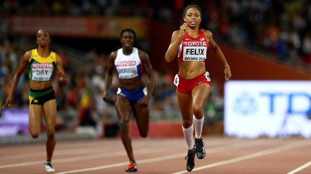 Allyson Felix claims World Championship 400m gold