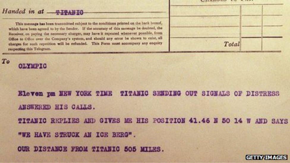 "telegramma s ""Titanika"""