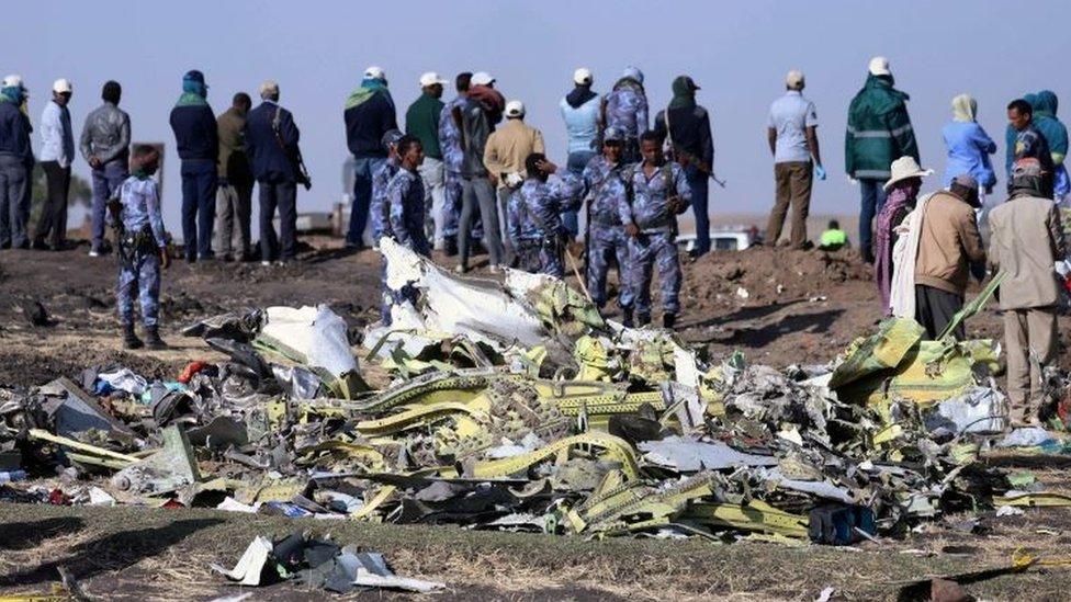 Lugar del accidente de Ethiopian Airlines