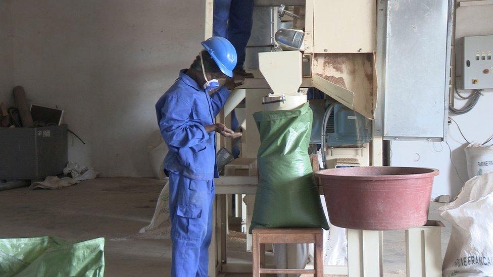 Worker in mill
