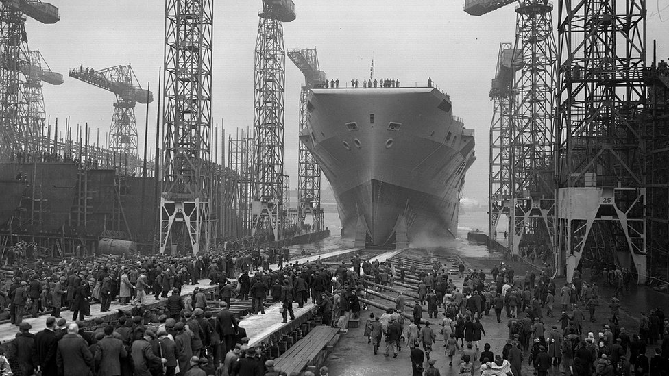 HMS Eagle Harland and Wolff