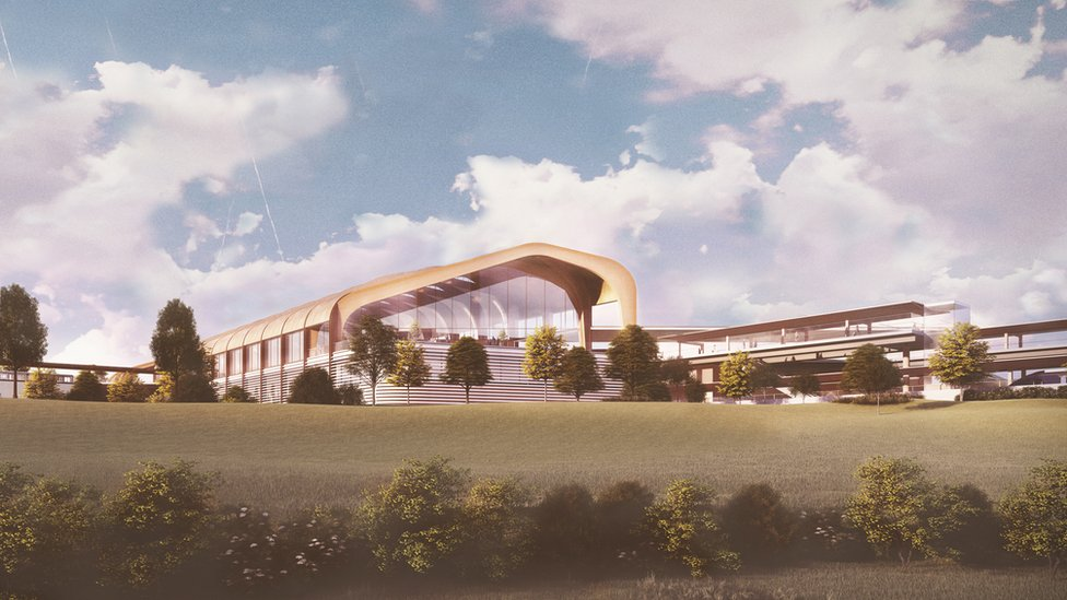 An artists impression of the planned Interchange station