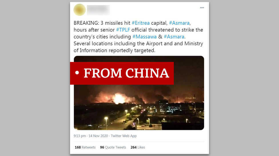"""Screen grab of image labelled """"from China"""""""
