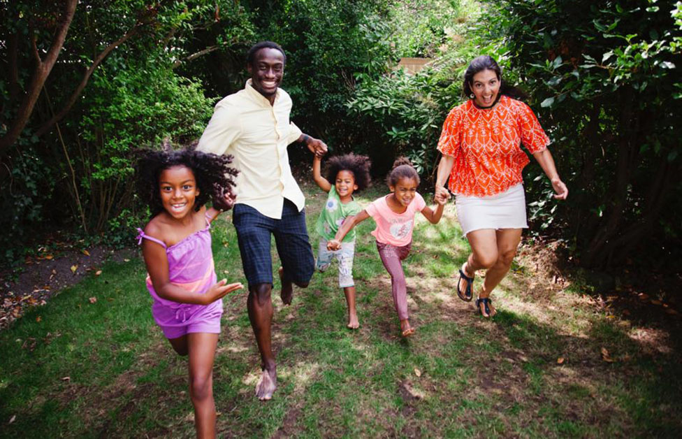 Fariba y familia