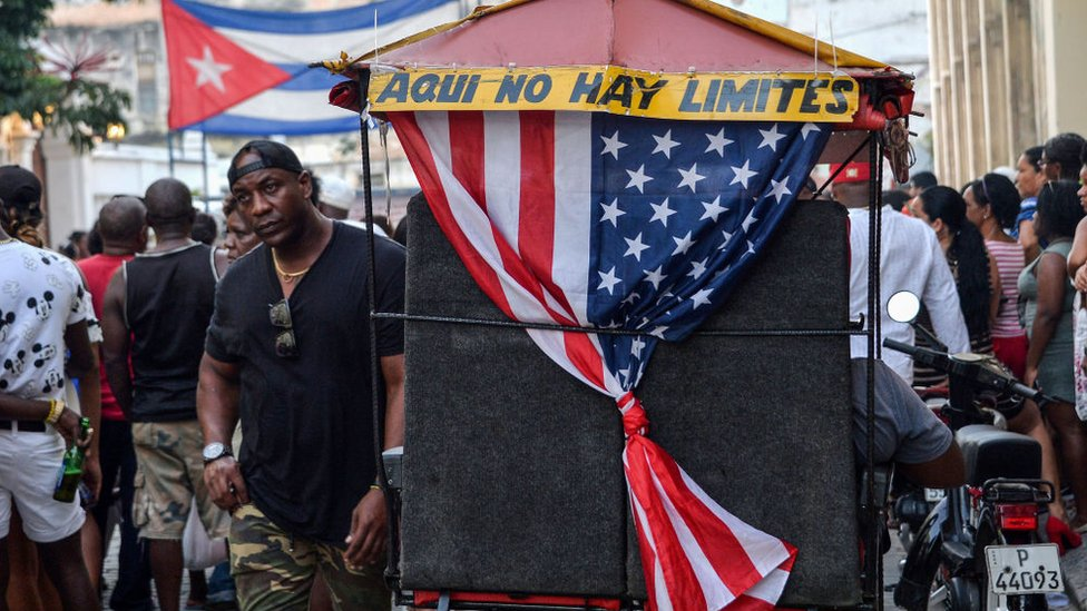 Bandera estadounidense en Cuba