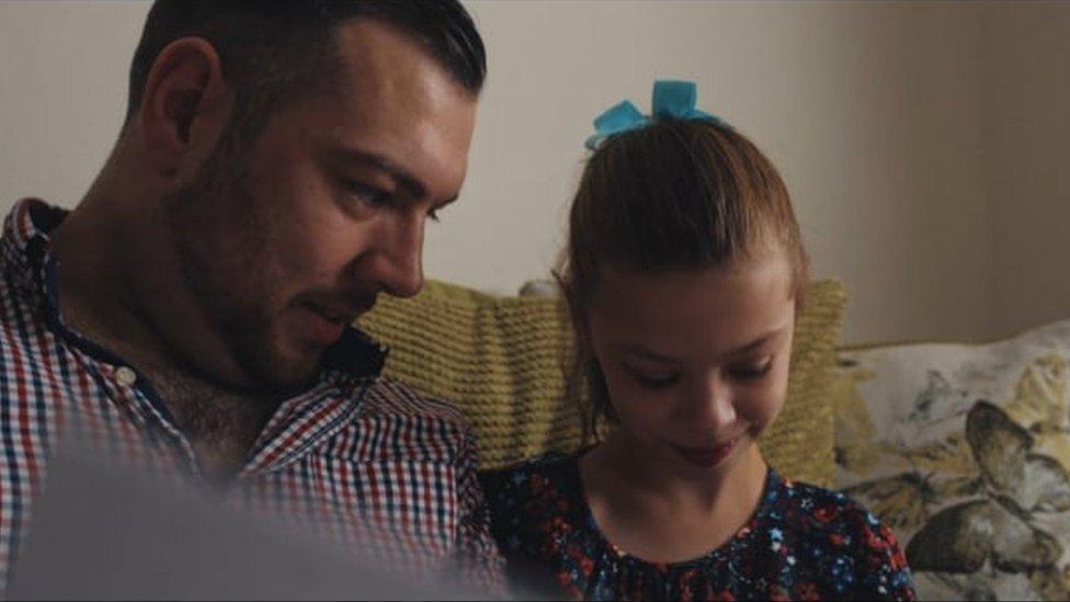 Craig y su hija Imogen