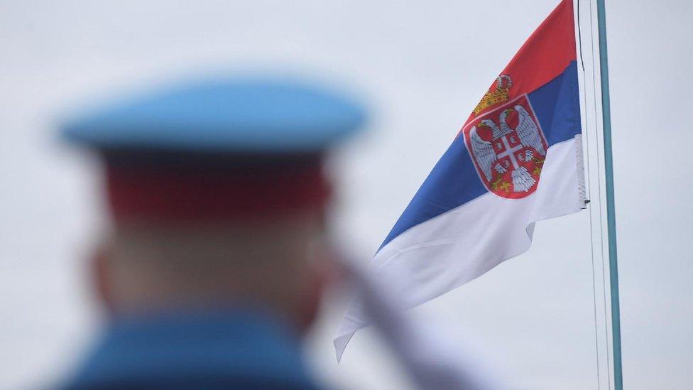 Srbija, gardista, zastava