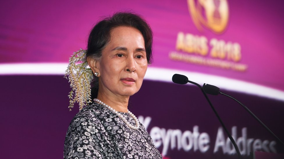Myanmar State Counsellor Aung San Suu Kyi at the 2018 ASEAN summit