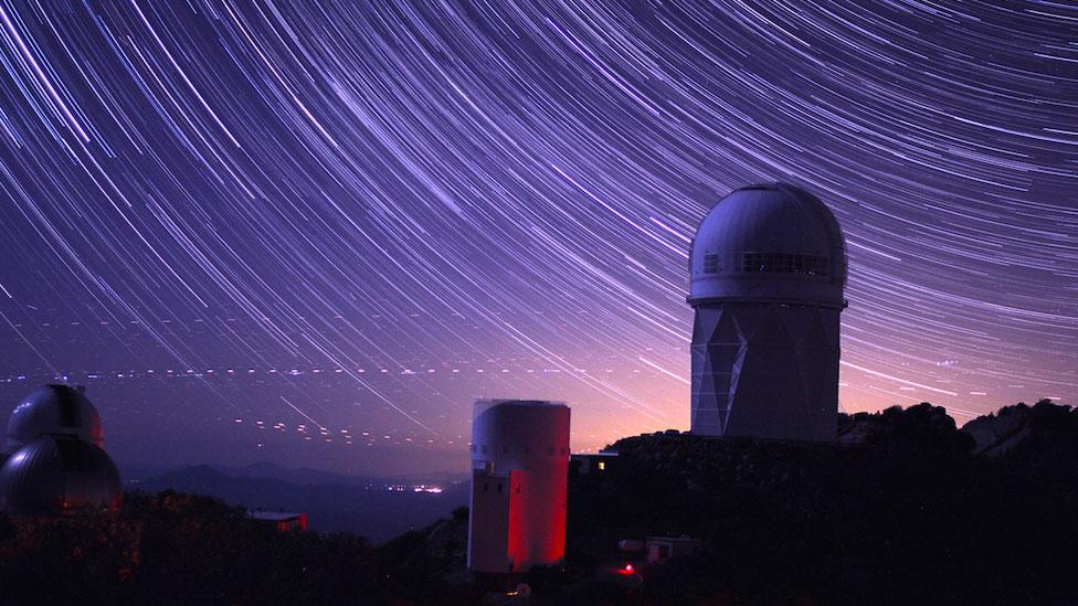 Telescopio Mayall del Observatorio Kitt Peak en Arizona