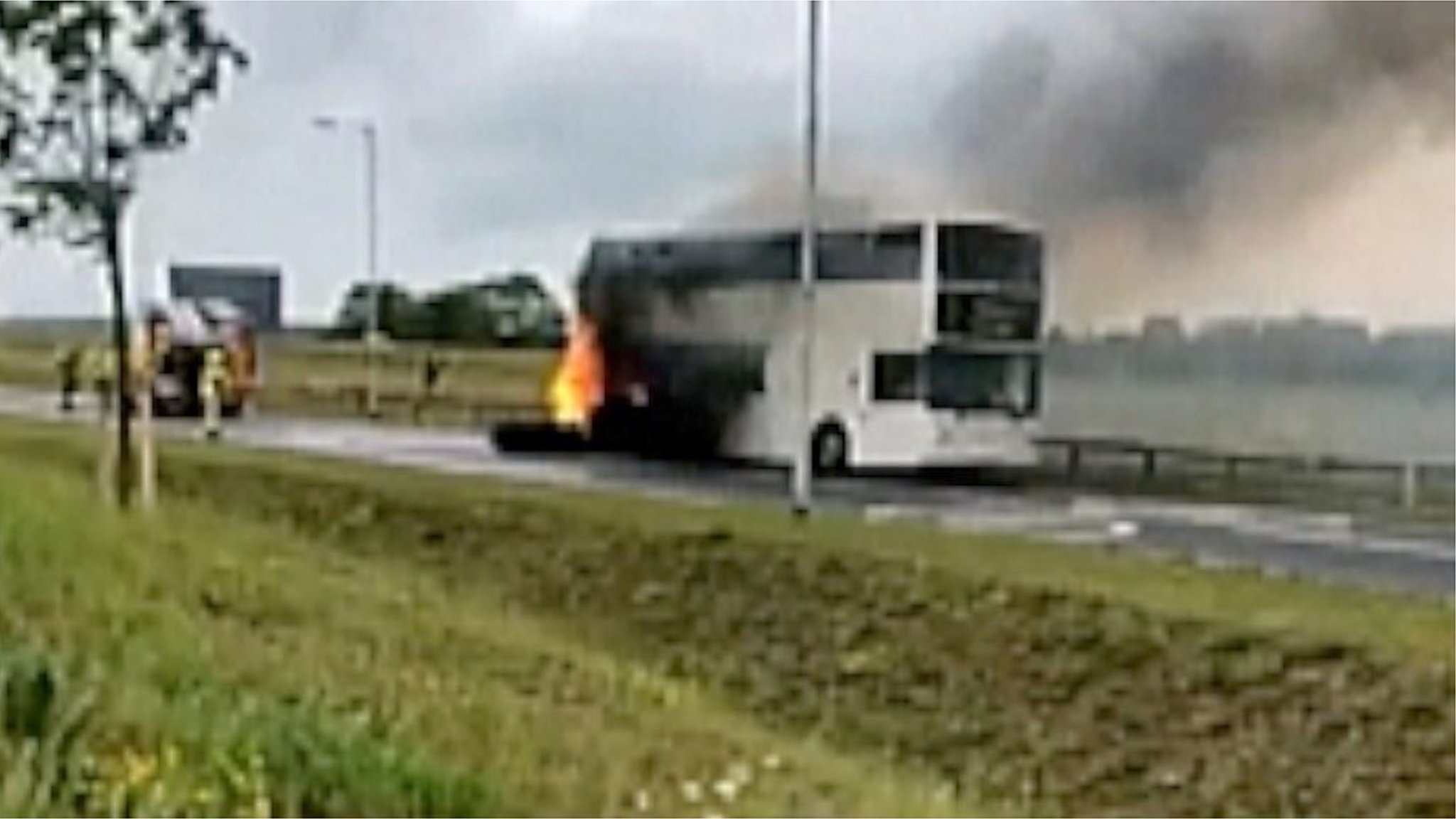 Children evacuated from Bury St Edmunds bus fire