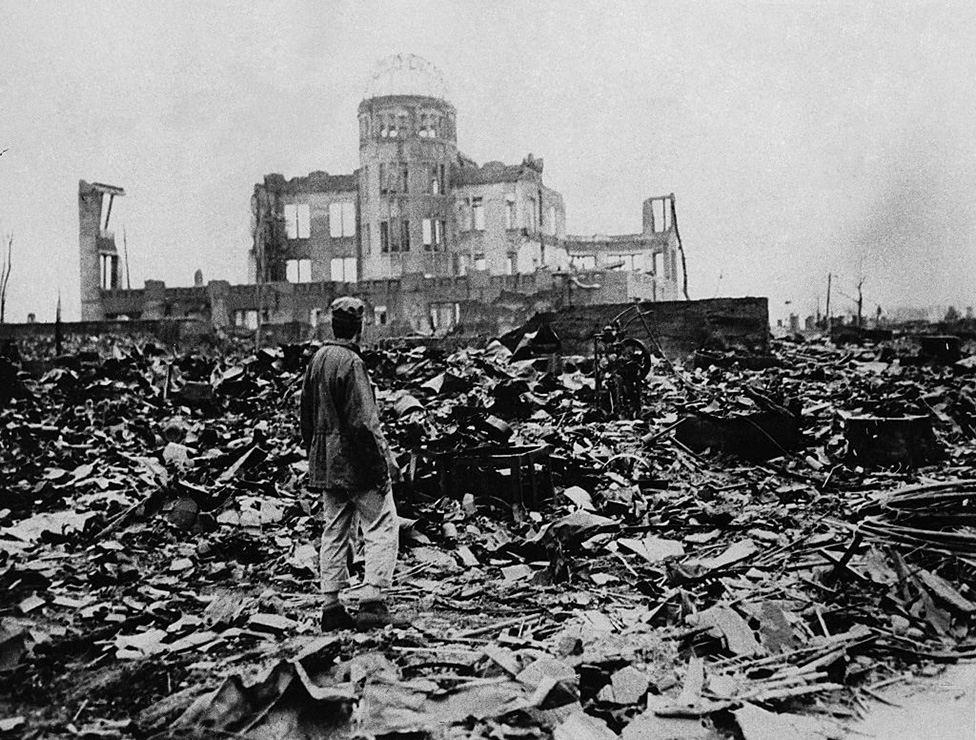 The devastation caused by the atomic bomb in Hiroshima