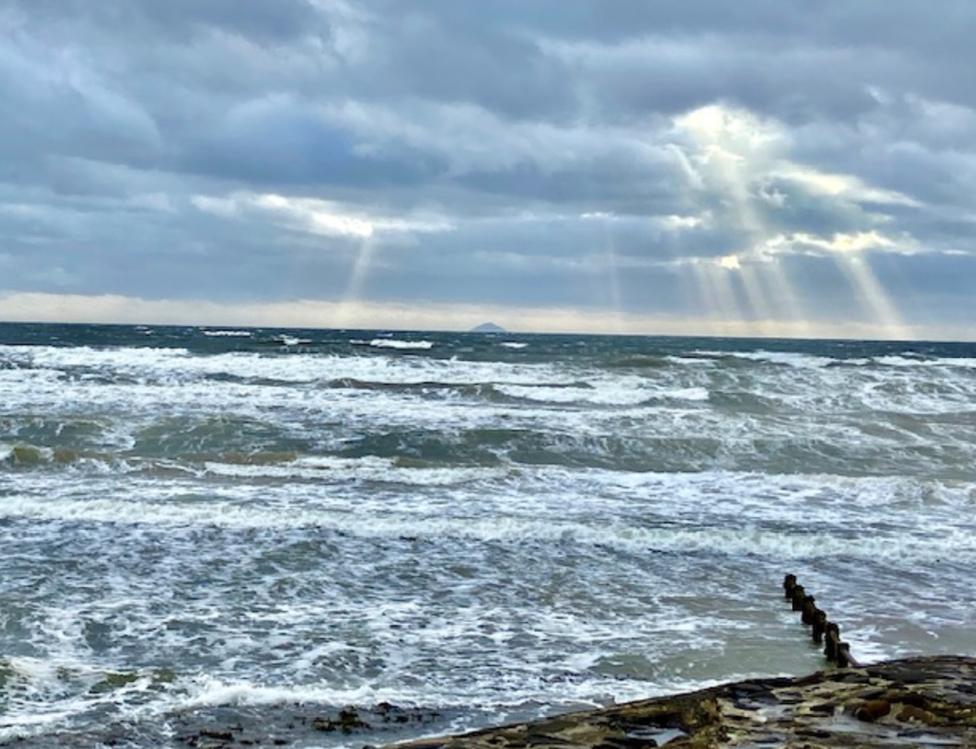 Jim McMillan took this photograph from Irvine beach facing onto Ailsa Craig.