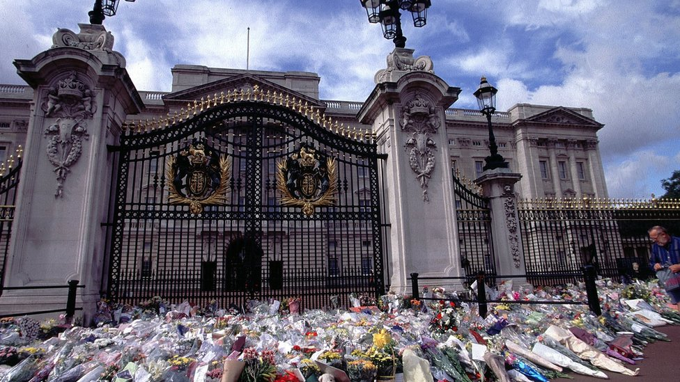 Квіти довкола Букінгемського палацу
