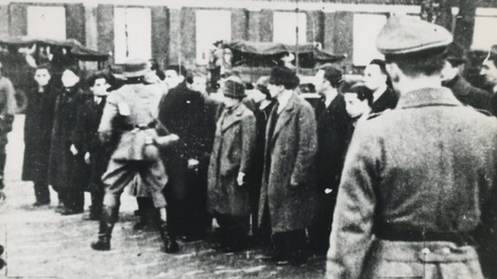Dutch Jews were detained on the Jonas Danil Meijerplein in Amsterdam on 21 February 2021
