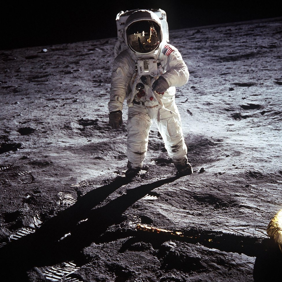 NASA handout photo of astronaut Buzz Aldrin on the Moon. This weekend marks 50 years since astronaut Neil Armstrong became the first person to walk on the lunar surface