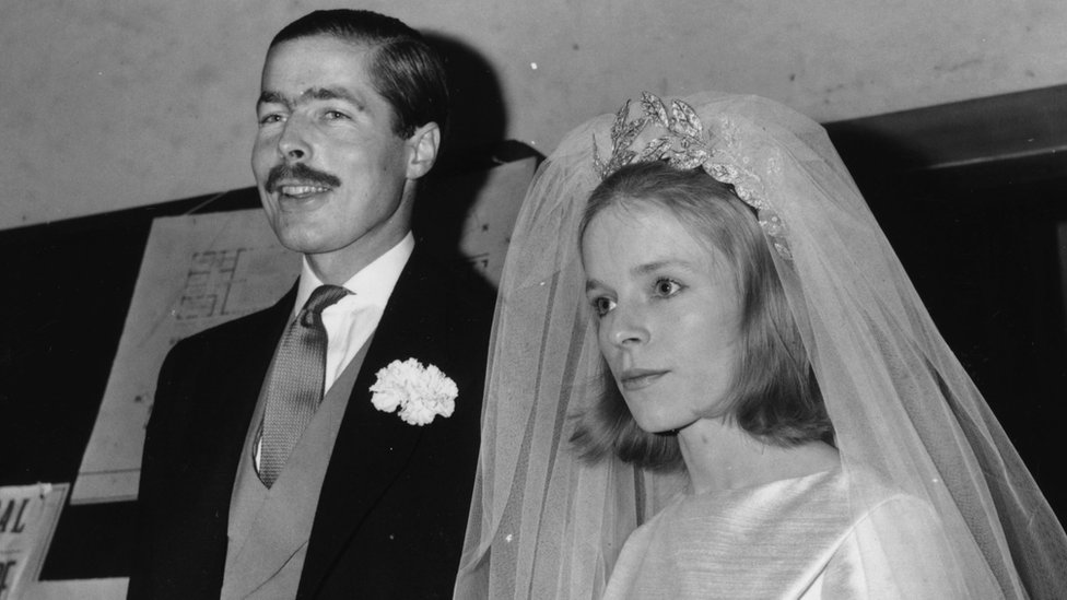 Lord Lucan and Lady Lucan after their marriage