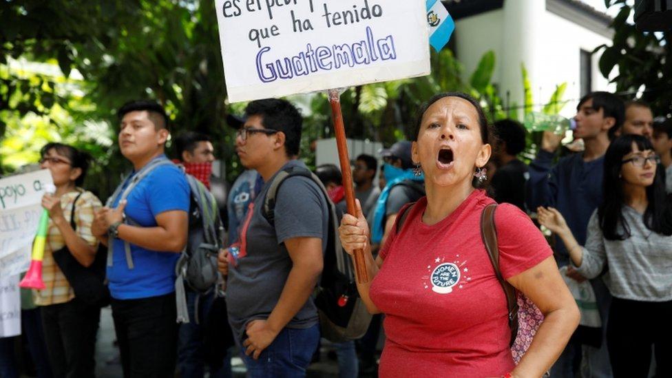 Protesta contra el acuerdo migratorio entre EE.UU. y Guatemala
