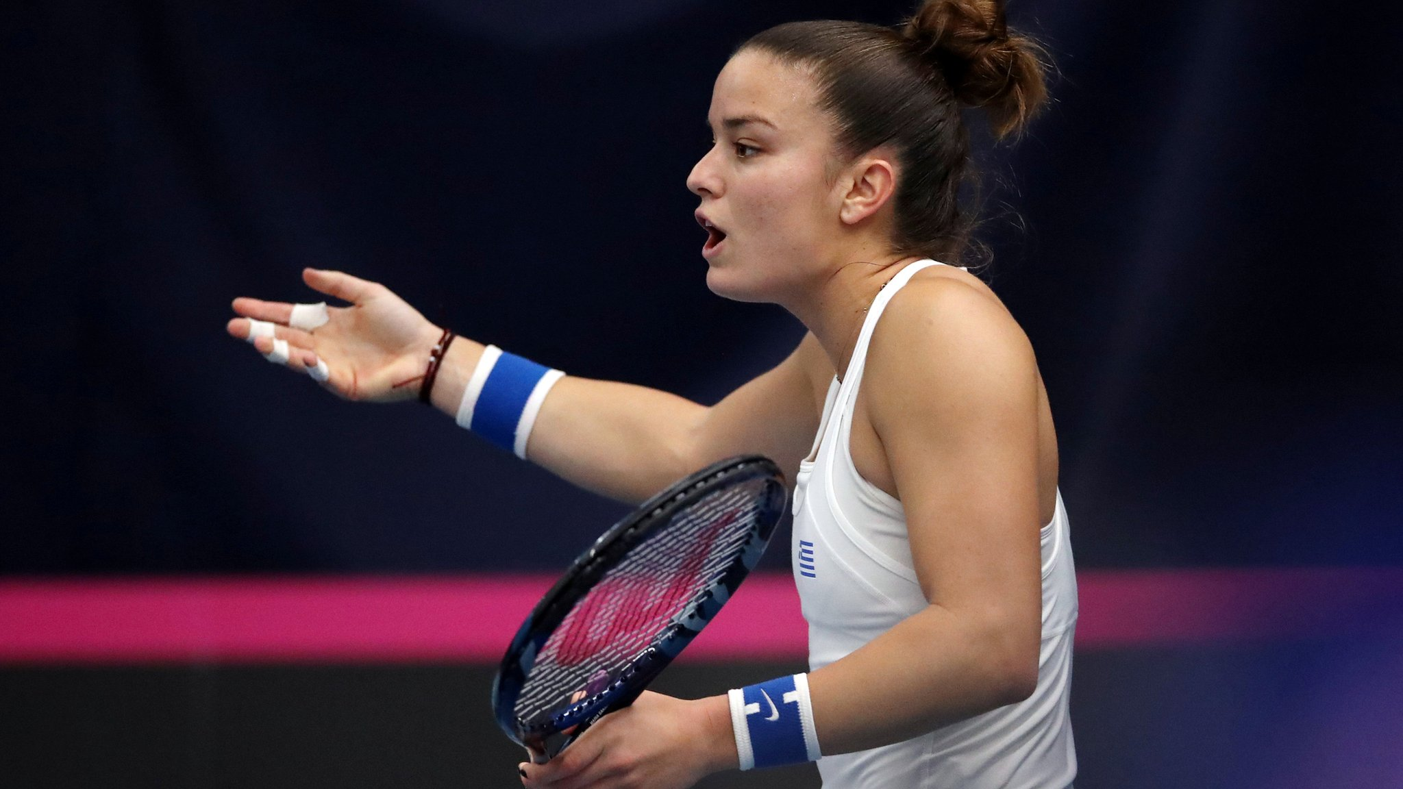Fed Cup 2019: Line judges criticised by Greek players in GB win