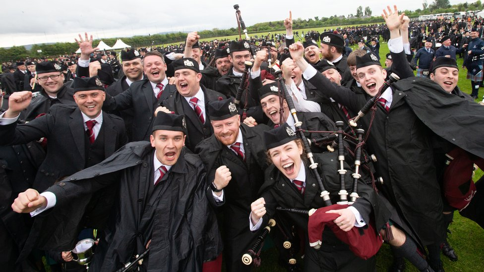 Irish band triumph in British pipe band championships