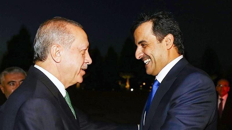 Cumhurbaşkanı Recep Tayyip Erdoğan ve Katar Emiri Şeyh Temim bin Hamed Al Sani
