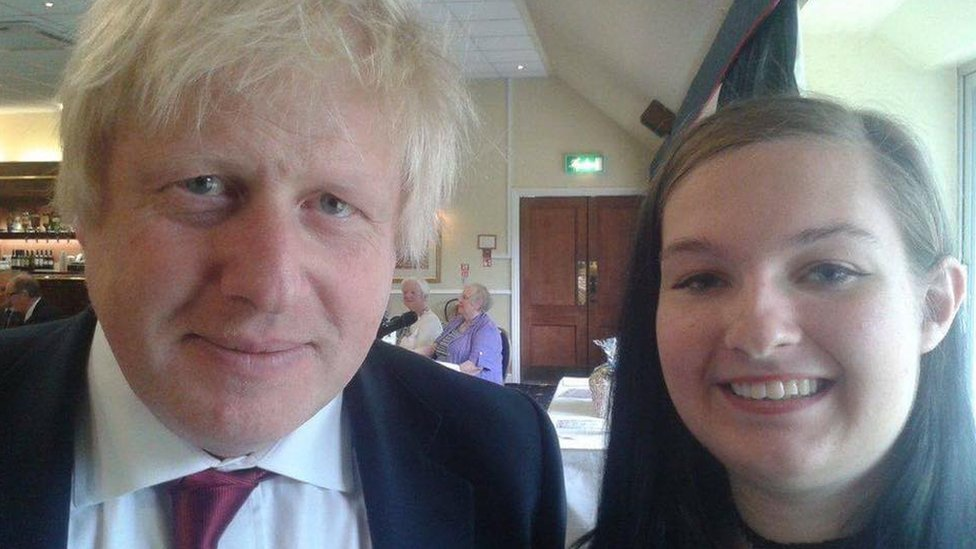 Boris Johnson and Clarissa Slade