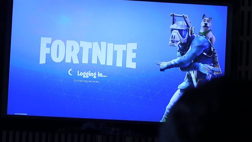 Fortnite login screen