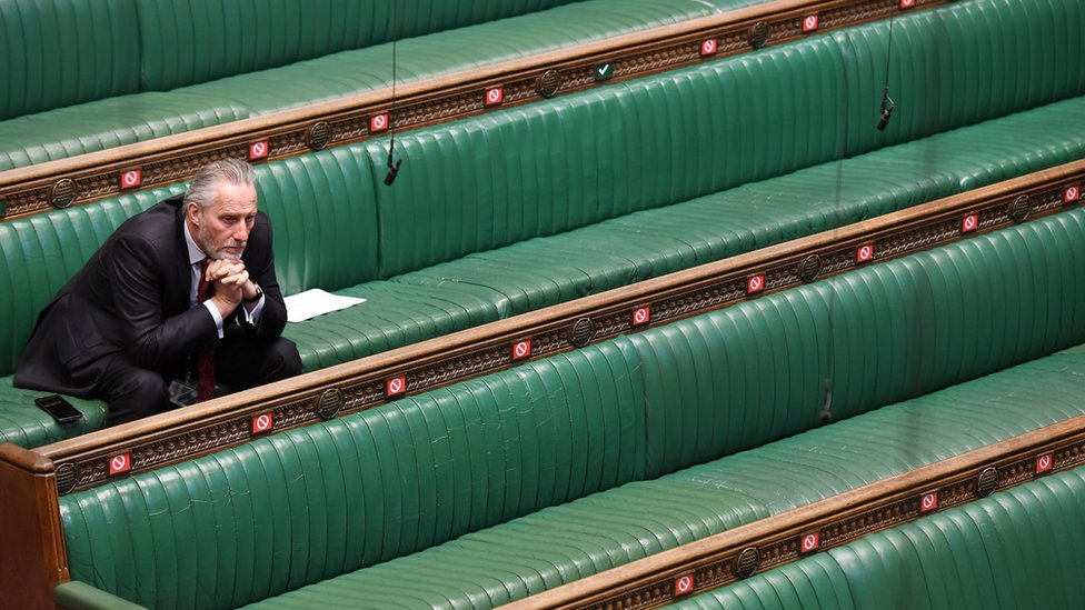 MP sits alone on the benches