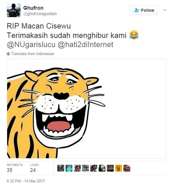 Cartoon of the tiger