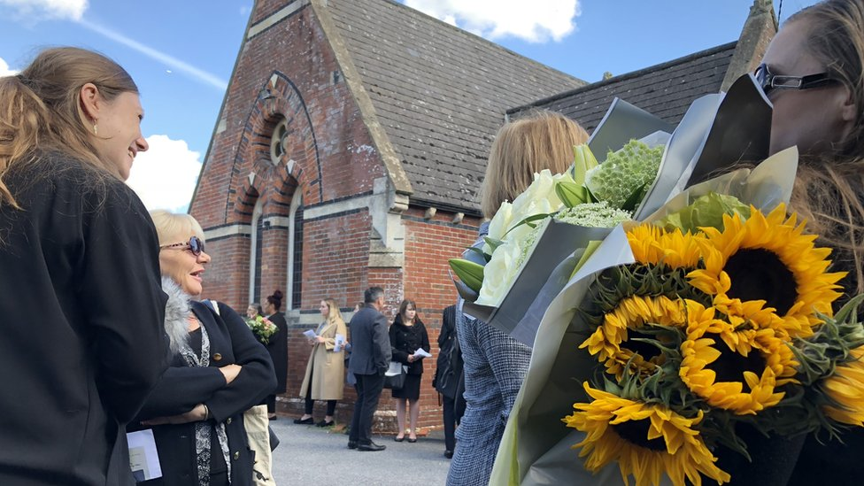 Mourners gather in Hailsham for unknown woman's funeral