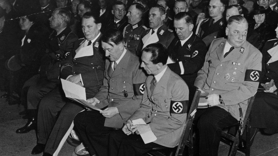 Hitler and Goebbels