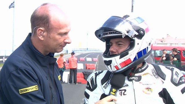 BBC Sport NI's Stephen Watson speaks to Spanish motorbike rider Antonio Maeso