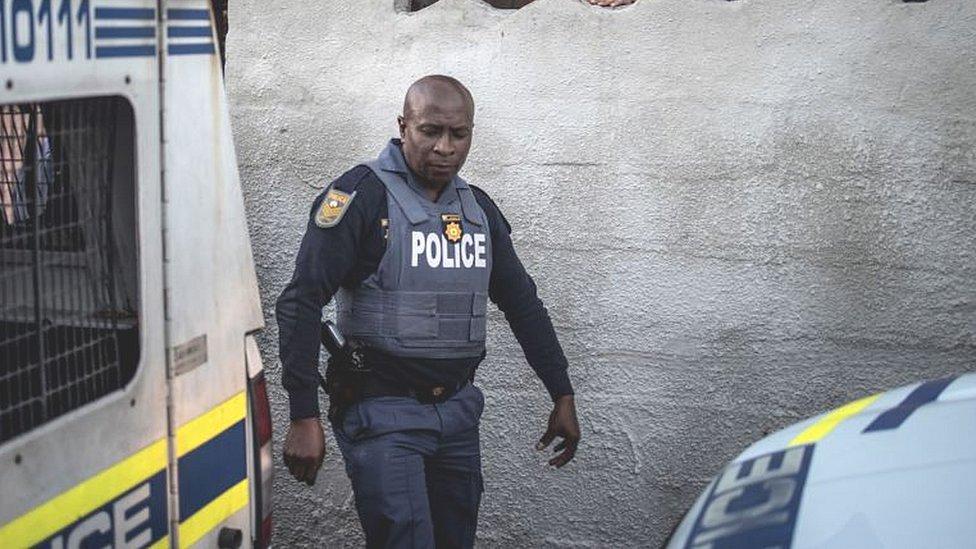 Police raid in Cape Town
