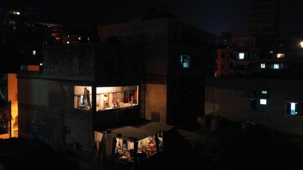 Cortes eléctricos en Beirut