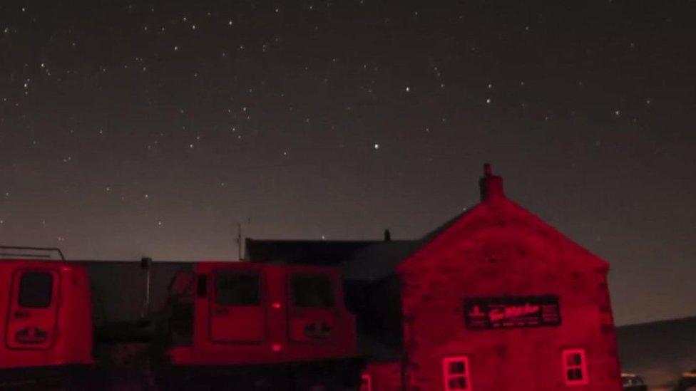 Tan Hill Inn's red light for stargazers' delight