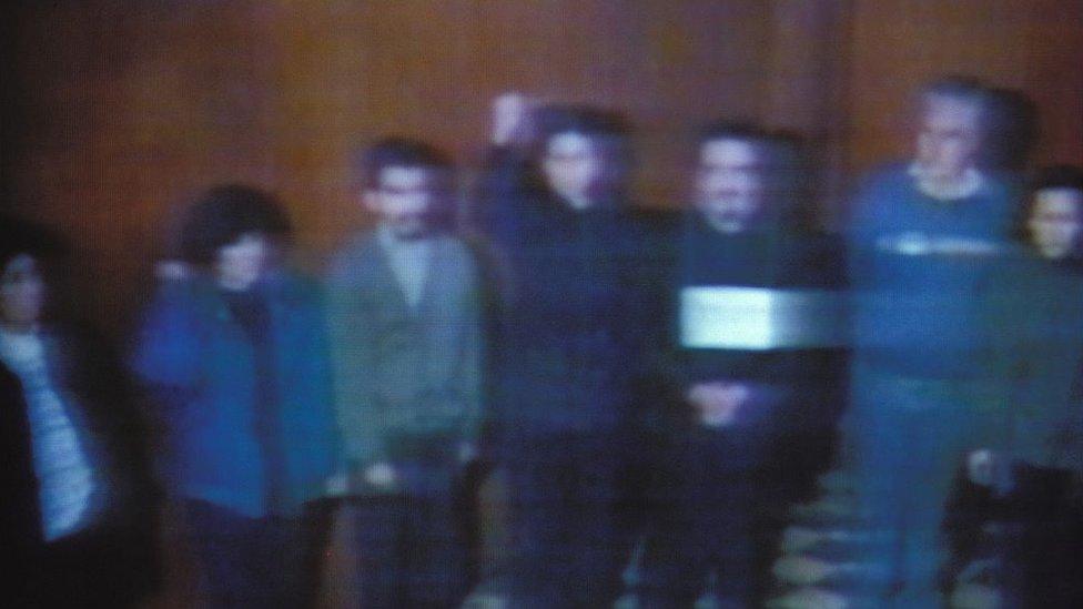 Cúpula de Sendero Luminoso tras su arresto en 1992.