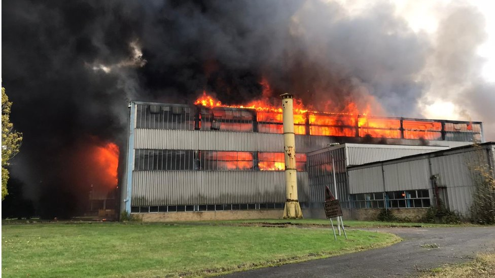 Fire at Twinwoods Business Centre