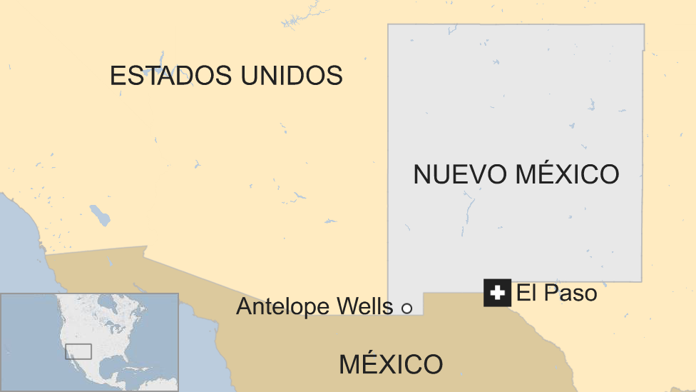 Un mapa de Nuevo México