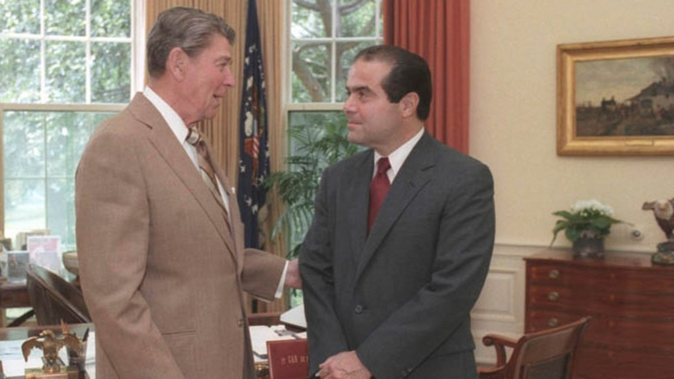Ronald Reagan and Antonin Scalia