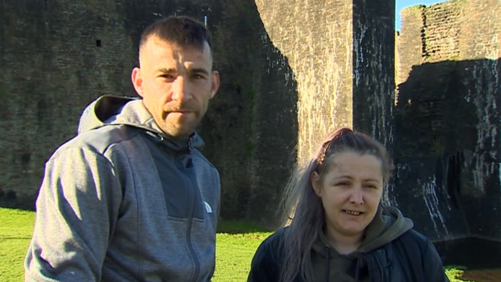 Sarah McGloin, 36, and her friend Ricky Shaw, 30