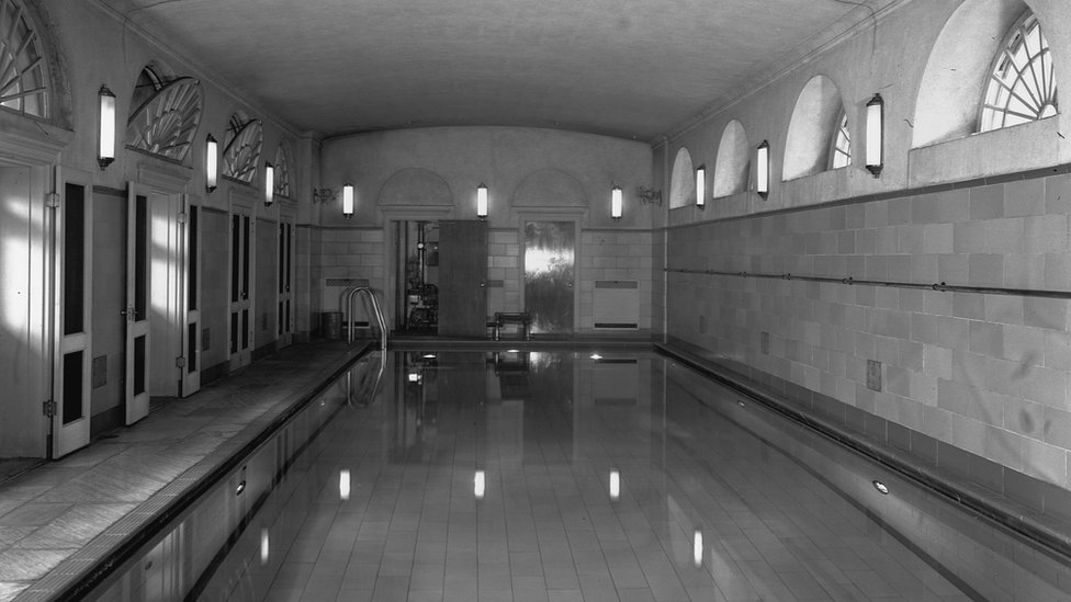 Indoor swimming pool in the White House
