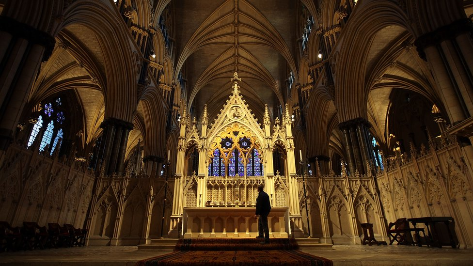 Inside Lincoln Cathedral