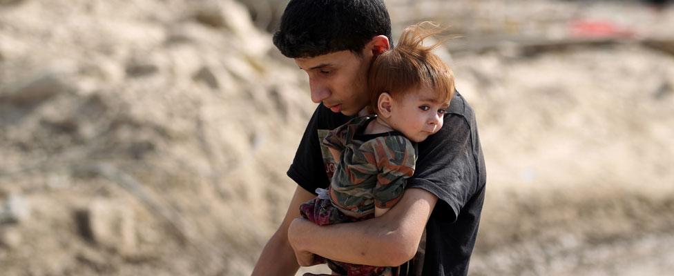 Two children in Mosul