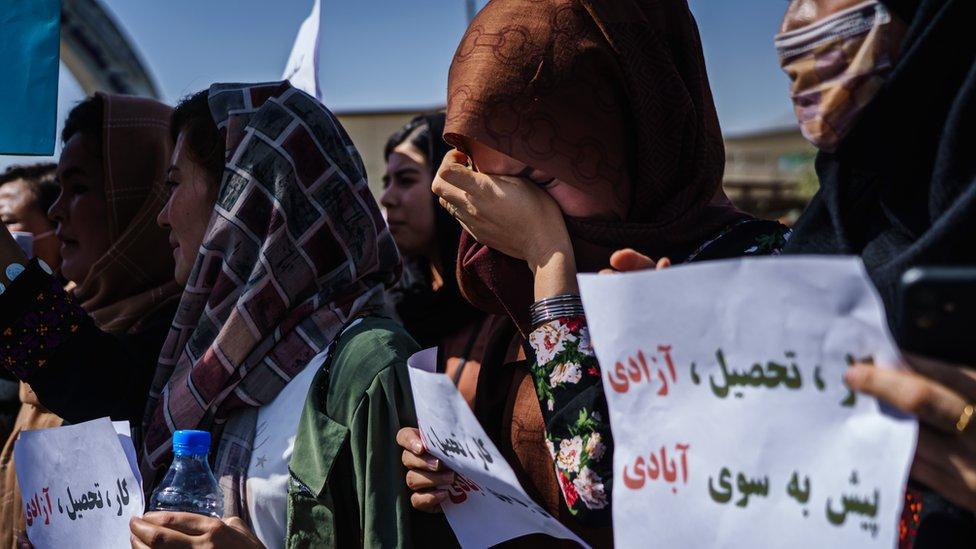Afganistan'da kadın eylemi
