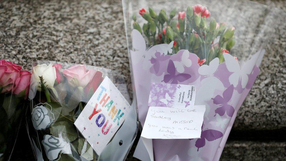 Tributes were left in Birstall