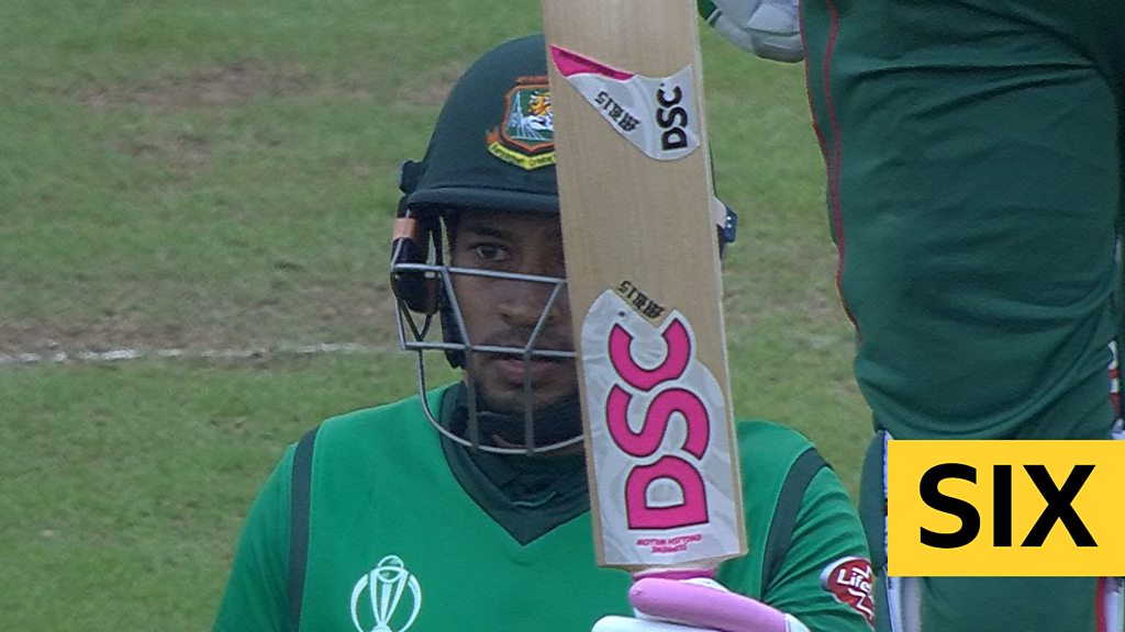 Cricket World Cup: Mushfiqur Rahim reaches 50 with a six for Bangladesh