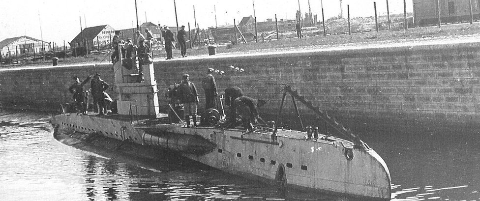 File pic of German UB-II class submarine from World War One